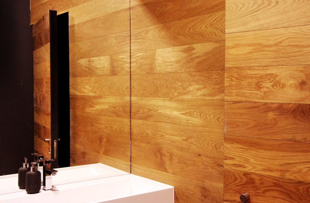 Soalho Madeira Naturtec Carvalho Europeu Parede Casa de Banho e Porta